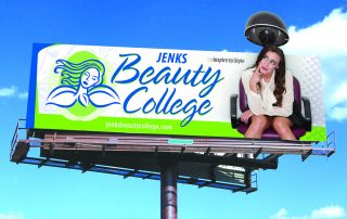 Sand Springs/Jenks Beauty College Outdoor Board