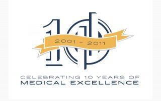 Oklahoma Surgical Hospital 10th Anniversary Logo
