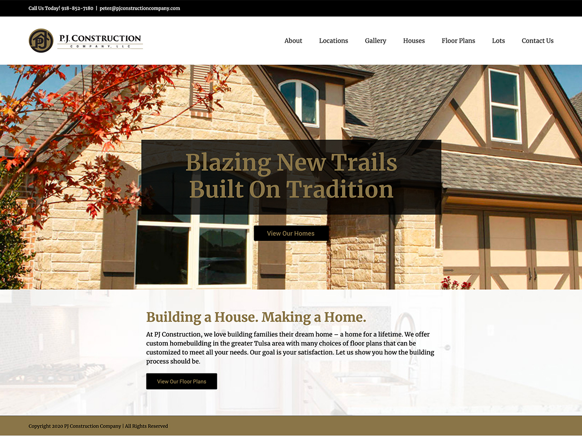 PJ Construction Website