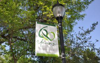 Saint Simeon's 60th Anniversary Pole Sign
