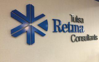 Tulsa Retina Consultants interior signage