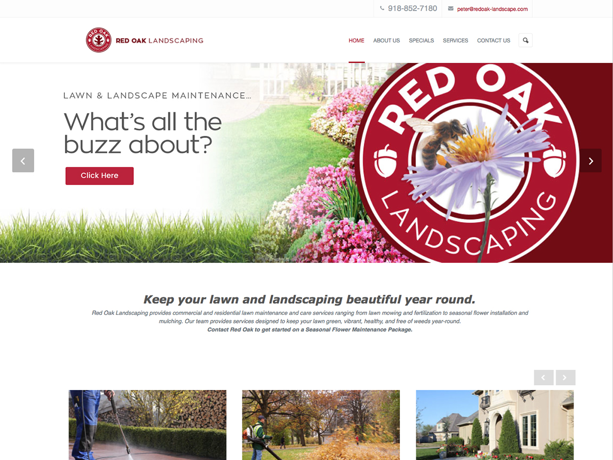 Red Oak Landscaping Website
